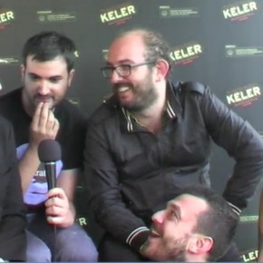 Entrevista a Borja Cobeaga y Carlos Areces con David, Tonet y Aitor en el espacio Keller